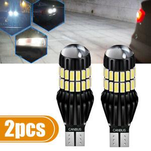 2x T15 921 W16W LED Reverse Backup Cargo Light Bulbs 6000K White Super Bright