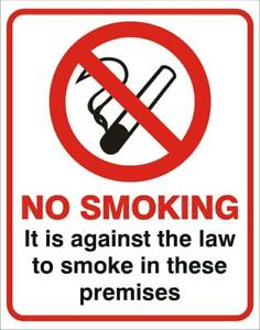 Pack of 2 x No Smoking Sticker Sign Factory Shop Warning Signs FREE POST!