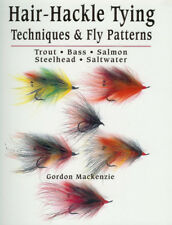 MACKENZIE FLY FISHING BOOK HAIR HACKLE FLYTYING TECHNIQUES paperback BARGAIN new