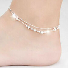 Silver Anklet Foot Jewelry Chain Beach< 00006000 /a> Fashion Ankle Bracelet Women 925 Plated