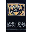 "Vintage Batik Wall Hanging w/Pockets, 26"" by 16"", 7"" Deep Pockets Blue w/Yellow"