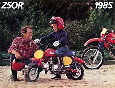 1985 Honda Z50R Minibike Moto Brochure-Honda Z 50 un - Mini Trail Singe Vélo