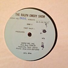 RADIO SHOW: RALPH EMERY SHOW 5/5/81 CHARLY McCLAIN  GUEST CO HOST; 1 HR