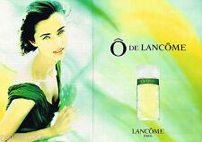 PUBLICITE ADVERTISING 065  1994  LANCOME parfum O pour femme ( 2 pages)
