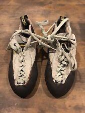 La Sportiva Mythos Climbing Shoes, Gray, Sz 35