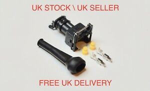 Genuine AMP/TYCO 2 Way Pin Junior Power Timer + Terminals Boot and Cable Seals