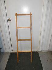 "RV Camper Trailer Solid Wood Customer Crafted Bunk Bed Ladder 49"" Oak Finish NEW"