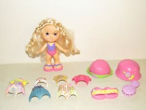Fisher Price Snap 'N Style Blonde Doll w/ Clothes Lot