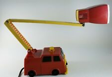 1980s Red Fire Truck Lamp With Adjustable Ladder Light