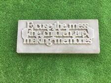 Excuse The Mess Sign Mould Concrete Garden Ornament Mold