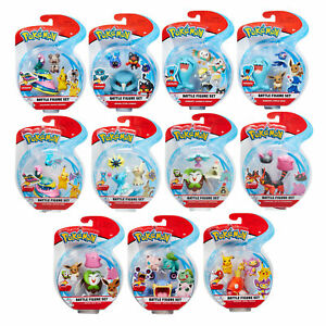 "Pokémon Battle 3 Figure Pack (2"" and 3"") *Choose Your Favourite*"