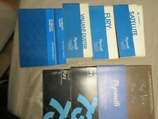 Vintage Plymouth Owners Manuals lot of 10