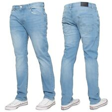 MENS BRAND NEW ENZO EZ130 CHINO JEANS IN PETROL BLUE COLOUR BARGAIN PRICE
