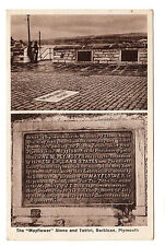 Mayflower Stone & Tablet - Plymouth Photo Postcard c1930s