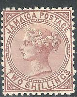Jamaica 1870 venetian-red 2/- crown CC watermark perf 12.5 mint SG14