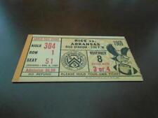 1969 ARKANSAS AT RICE COLLEGE FOOTBALL TICKET STUB EX-MINT