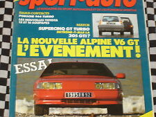 SPORT AUTO 1985 RENAULT 5 GT TURBO / ALPINE V6 GT  / PORSCHE 944 TURBO / n°278