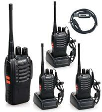 4pcs BaoFeng BF-888S Handheld 5W Two Way Ham Radio Walkie Talkie with Earpiece