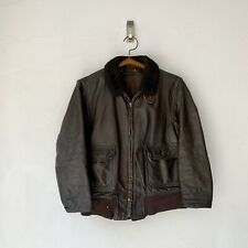 Vintage 60s 70s USN US Navy G-1 Bomber Jacket Coat Flight Leather M