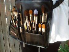 XL adjustable makeup brush holder. Zipper travel cosmetic case w strap/ belt.