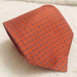 """NWT recent Brooks Brothers Makers Merchants Tie Orange Blue  60"""" L 3.5"""" W"""