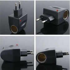 Universal AC to DC Car Cigarette Lighter Socket Adapter Converter EU Plug Hot