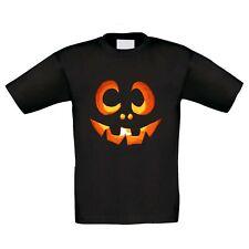 Kinder T-Shirt - Halloween Kürbisgesicht - Party Kostüm Kürbis Grusel Horror Fun