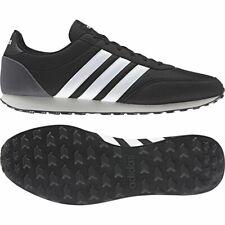 Adidas Hombre V Racer 2.0 Zapatillas de Deporte para Correr Negro Blanco