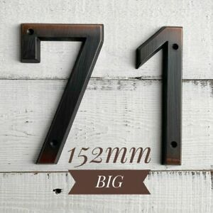152mm House Number Aged Bronze Door Address Zinc Alloy Screw  Outdoor Address