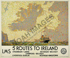 "Vintage Travel Poster Print Ireland 12x16/"" Rare Hot New A265"