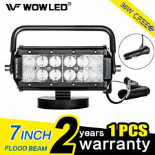 WOWLED (1901330) 7-Inch 36W Cree LED Flood Beam Light Bar with Magnetic Base