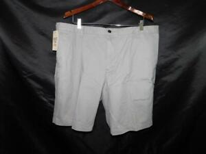 Dockers Size 40 NWT Gray Shorts Flat Front Classic Fit Perfect Short W40 NEW Tag