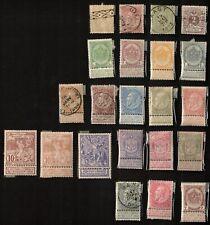 Belgium 1886-1900 Mixed Lot of 22 Stamps, Sc# 55-58, 60-62, 65-67, 71, 84, 85, 8