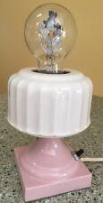 Vintage Antique Aerolux Neon Flower Bulb Porcelain Light Fixture Lamp Deco