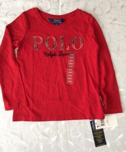 Ralph Lauren  Girl's 100% Cotton Graphic T-Shirt (4 Years)