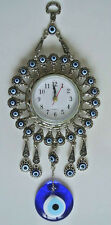 Turkish Nazar Glass Evil Eye Wall Clock Hanging Charm &Home Decor 6.5 cm / 23 cm