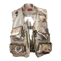 Mens Multi-Pockets Mesh Vest Fly Fishing Photography Hunting Quick-Dry Camo