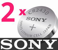 1 NEW SONY CR2430 ECR2430 CR 2430 3V Lithium Batteries     +1 BONUS