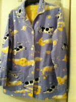 """Nick & Nora Women's M Pajama Top """"The Cow Jumped Over The Moon"""" RARE"""