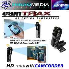 CamTRAX-Mini Wifi Cam DV Recorder- 640 HD LED-Video Action Sports-Security-Mount