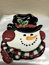 Fitz And Floyd Essential Snowman Face Collectible Plate