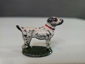 Antique vintage metal cast iron dollhouse miniature Dog