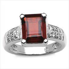 Damen Ring Eugenie, 925er Silber, 4,08 Kt. Granat/Weißtopas, Gr. 55