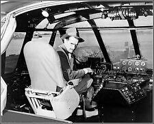 Photo Howard Hughes In The Cockpit Of The H-4 Hercules, Los Angeles Harbor, 1947