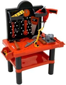 Kid's Play Set - Children's Kids Play Toy Workbench Tools Kit Workshop Playset