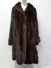 EXCELLENT CANADIAN MAHOGANY MINK FUR COAT JACKET WOMEN WOMAN SIZE 18
