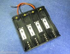 "Battery Case Box Holder w/ 6"" Wire for 4XAA 1.5V 2A 14500 in Parallel"