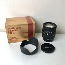 Sigma 28-105mm f/3.8-5.6 UC III Camera Lens for Pentax AF - With Box and Caps