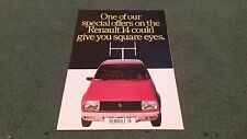 1979 RENAULT 14 FREE BLACK & WHITE TV or CASSETTE PLAYER OFFER - UK BROCHURE