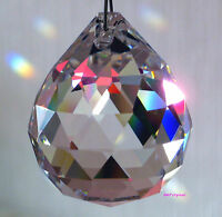 Sun catcher Hanging Crystal Feng Shui Rainbow Prism Mobile Wind Chime 40mm Ball